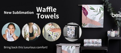 Check BestSub New Sublimation Waffle Towels & Bring Back This Luxurious Comfort!