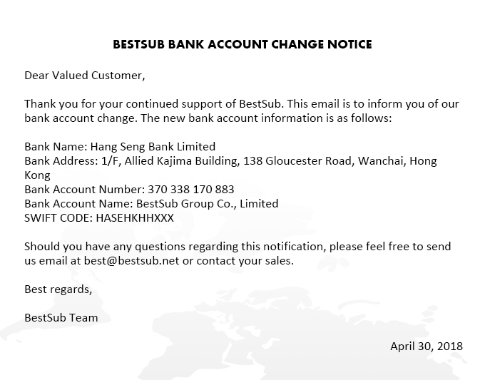 2018-5-12 BestSub Account Change Notification email
