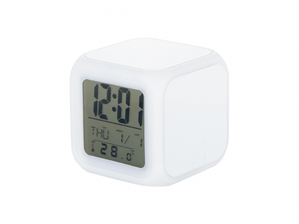 Sublimation Glowing Led 7 Color Change Digital Alarm Clock