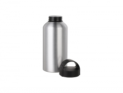 Sublimation 500ml Aluminium Water Bottle W/handle (Silver)