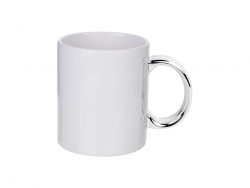 Sublimation 11oz Plated Ceramic Mug (Silver Handle)
