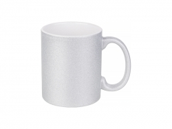 Sublimation 11oz/330ml Glitter Mug (Silver)