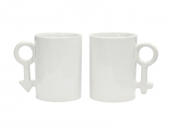 Sublimation 10oz Couple Mugs