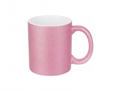 Sublimation 11oz/330ml Glitter Mug (Pink)