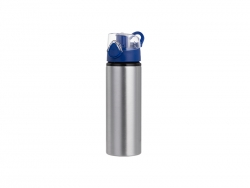 Sublimation 750ml Alu Water Bottle with Blue Cap (Silver) MOQ: 2000
