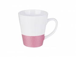 Sublimation 12oz Bottom Glitter Mug (Pink)