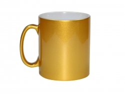 Sublimation 10oz Golden Sparkling Mug