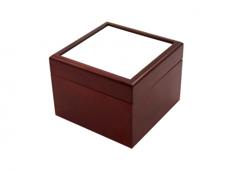 Sublimation Jewelry Box(4*4, Brown)
