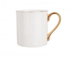 Sublimation 10oz/300ml Gold Rim and Handle Bone China Mug