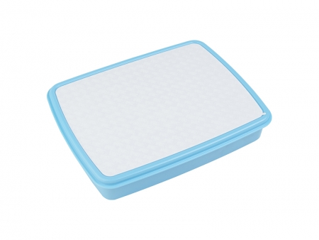 Sublimation Plastic Lunch Box w/ Grid(Light Blue) w/ Insert   MOQ:2000
